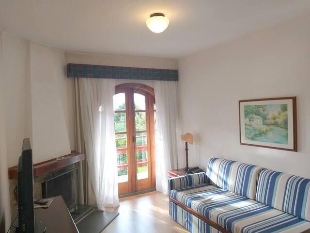 215- Flat aconchegante no Quatre Saisons Residence