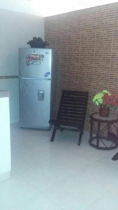 este es parte de la cocina y la sala