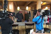 This is when they filmed our family and ranch on the TV show State Plate with Taylor Hicks