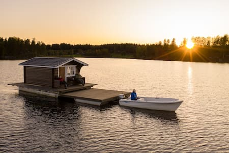 Explore Swedish Nature in our floating cottage #5