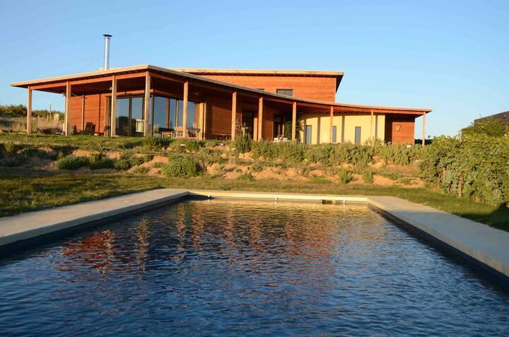 Domaine viticole bio avec piscine
