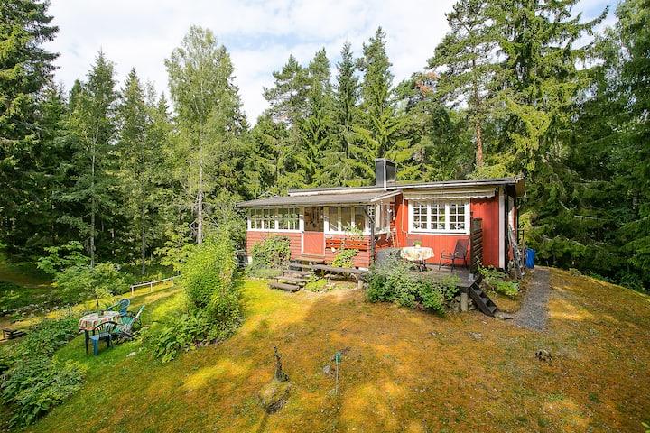 Välkommen på Hvilan! Cozy Hütte im Wald