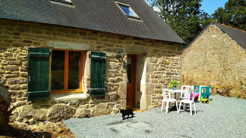 Cosy stone cottage in rural Brittany