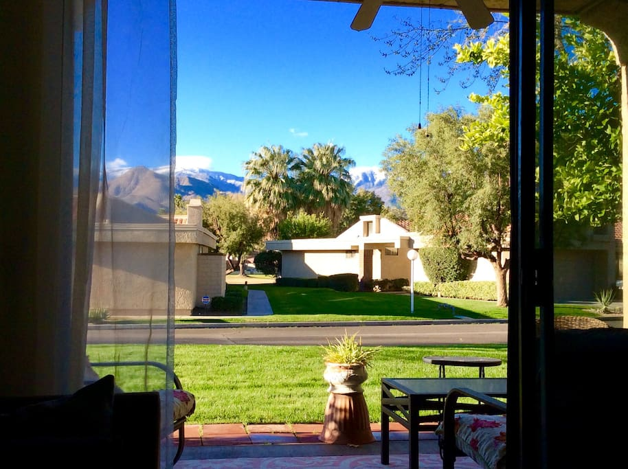 Back patio/mountain view