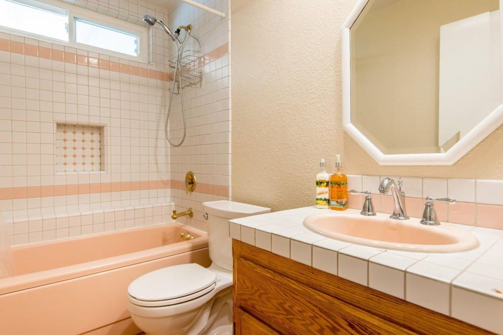 Full bathroom for guests