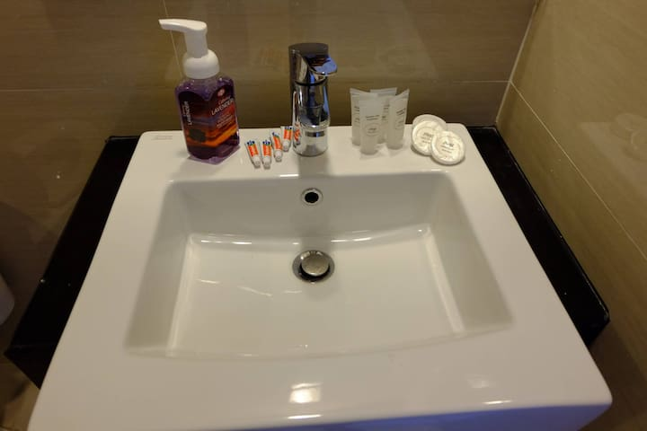 Toiletries such as shampoo, soap tissues are provided for the first night of your stay