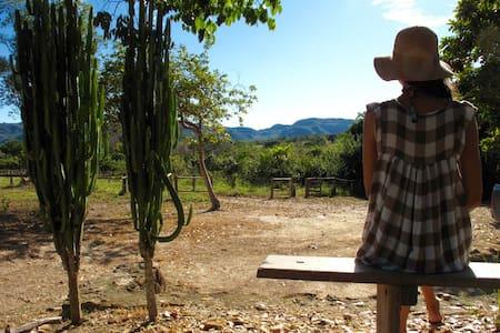 Quarto Cajuí - Fazenda Miraflores - Cavalcante