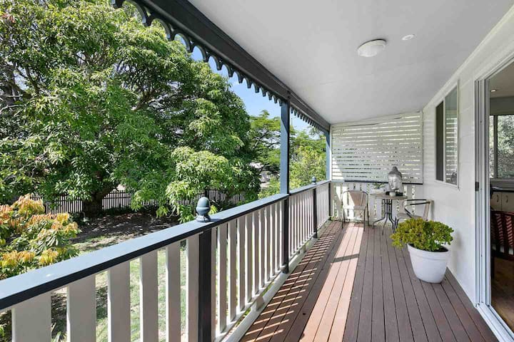 The deck is East facing and enjoys great privacy and a pleasant view over the garden and trees.