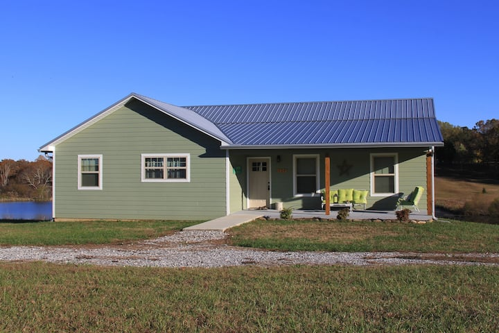 Newer Home on Stocked Pond Near Fall Creek Falls!