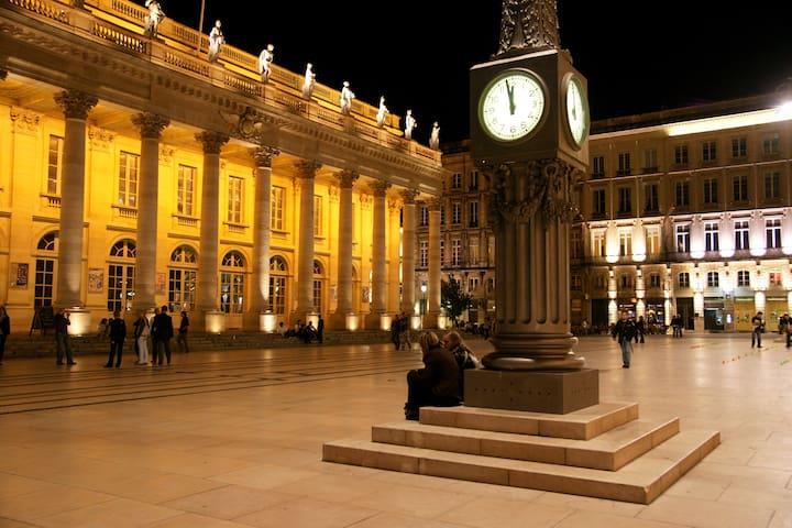 L'opéra national de Bordeaux  à la façade datant de 1780 accueille des spectacles lyriques, de la danse et de la musique.