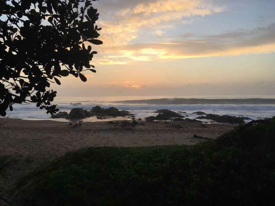 Direct private beach access