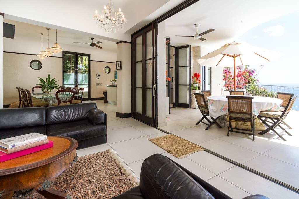 Open plan living with every room opening onto large balcony