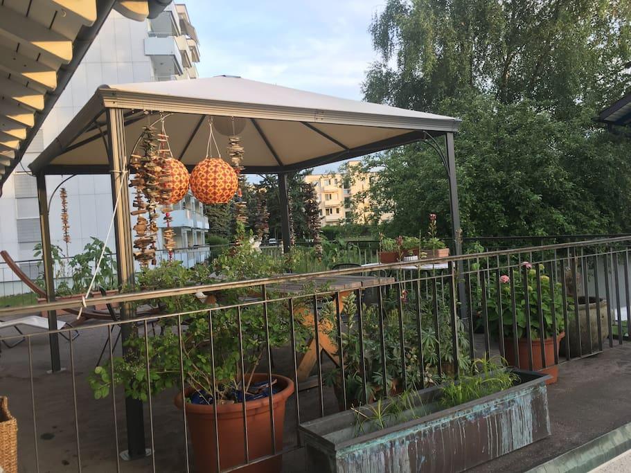 Grosse Terrasse zur Mitbenutzung