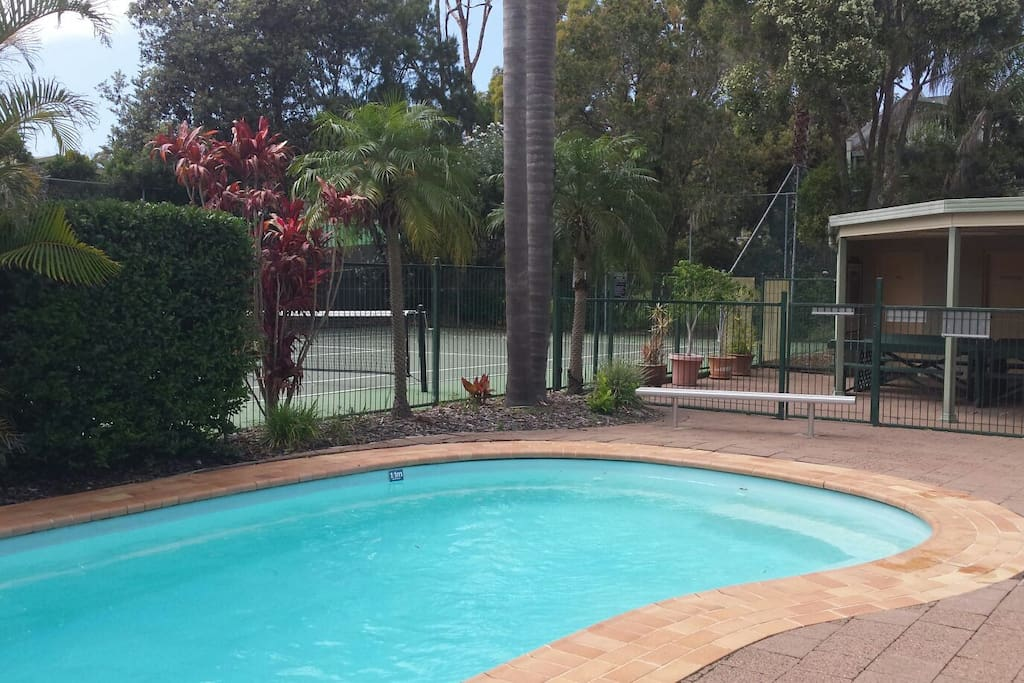 The kids will love The Heated pool
