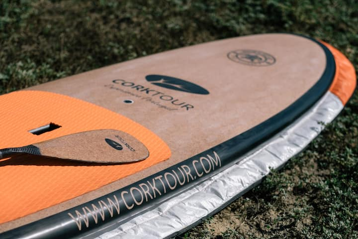 portuguese SUP boards finnished in cork