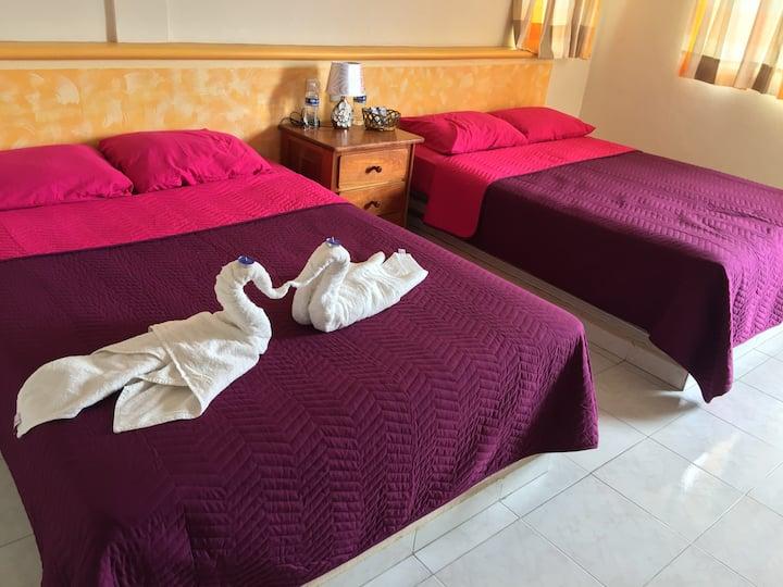 Habitación confortable, Xpujil, Calakmul, Campeche