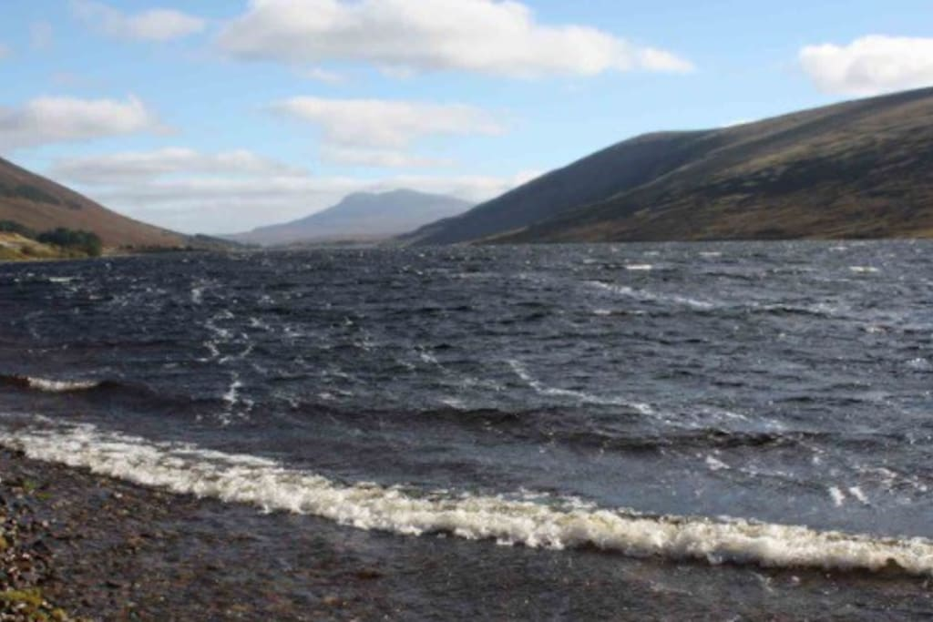 Loch a'Croisg, the local Loch, bank fishing available only.  Loch has perch, brown trout, pike and the occasional salmon.