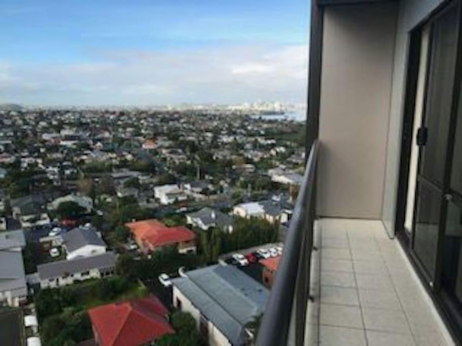 view facing towards city
