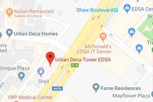 Location Map  Nearest MRT station is MRT Shaw. Urban Deca is located along edsa south bound. Nearest landmark in front of SMDC Fame and Greenfield Pavilion.
