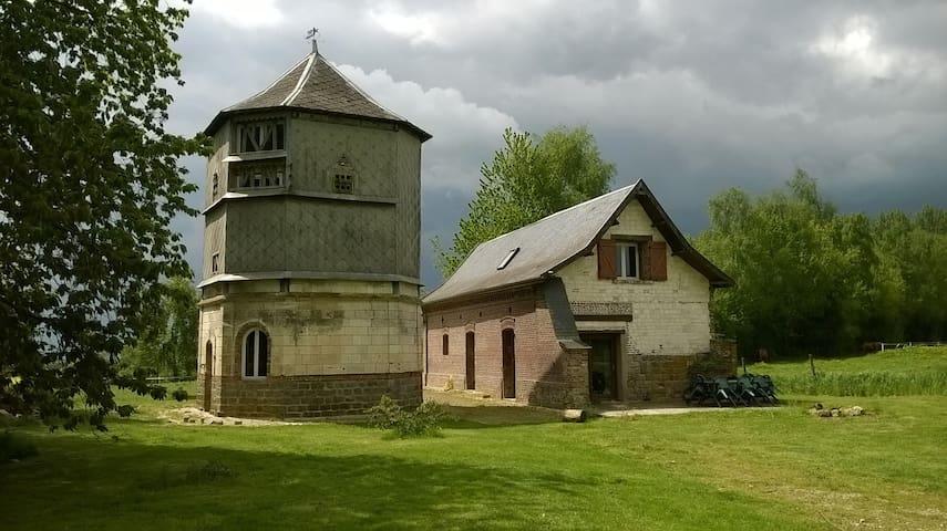 Abbaye de Clairfaye, gite du pigeonnier. - Varennes - Huis