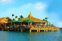 Pelican Pier Bar & Grille is the ultimate location to have a bite, cold drink and watch Aruba's spectacular sunsets.  It doesn't get any better than this..