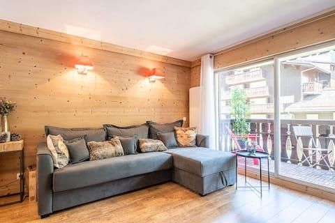 Precioso apartamento a 2' a pie del centro de Chamonix