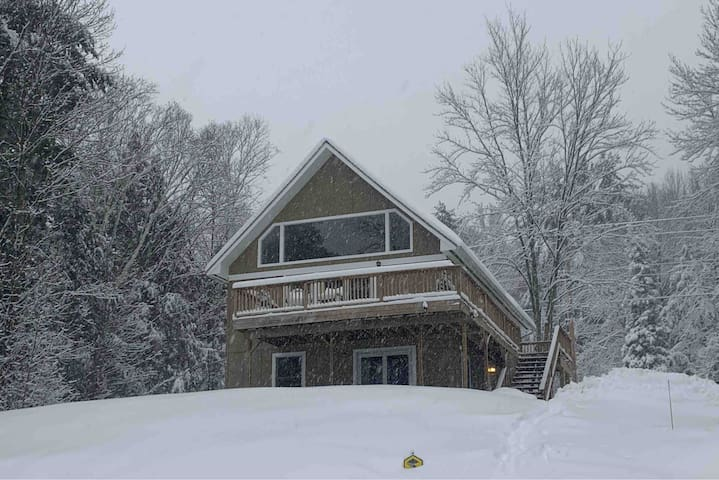 *Hillside Chalet with full views of Mt. Mansfield*