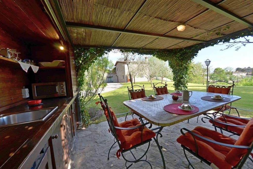 Small outdoor bar