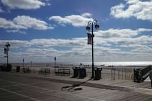 The beach and Boardwalk are an easy 4 block walk from the house. These beaches all have lifeguards in season from 10-5.. Take a sunrise bike ride in the morning on the Boardwalk..