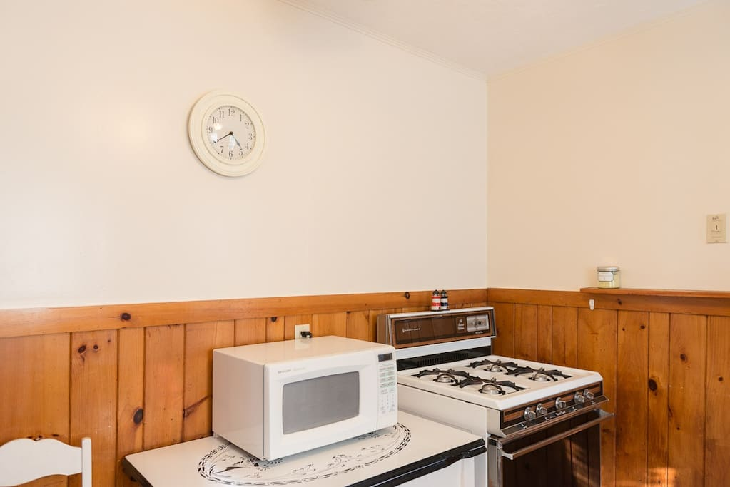 Gas stove and microwave
