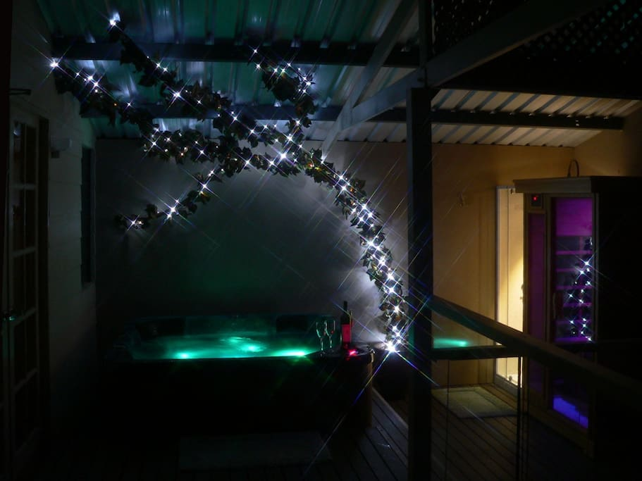 Mood lighting for your private spa and sauna