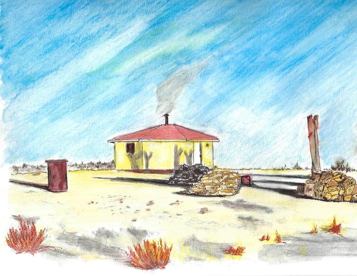 Navajo Hogan - yá'át'ééh
