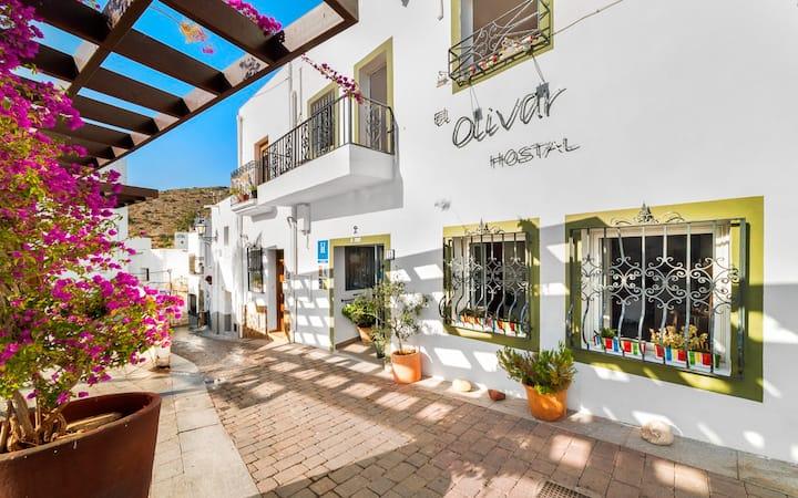 Hostal El Olivar - Habitacion vista montaña