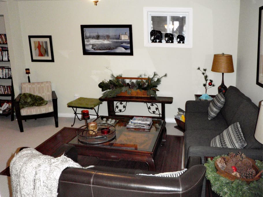 Living room / sitting area is large and comfortable.
