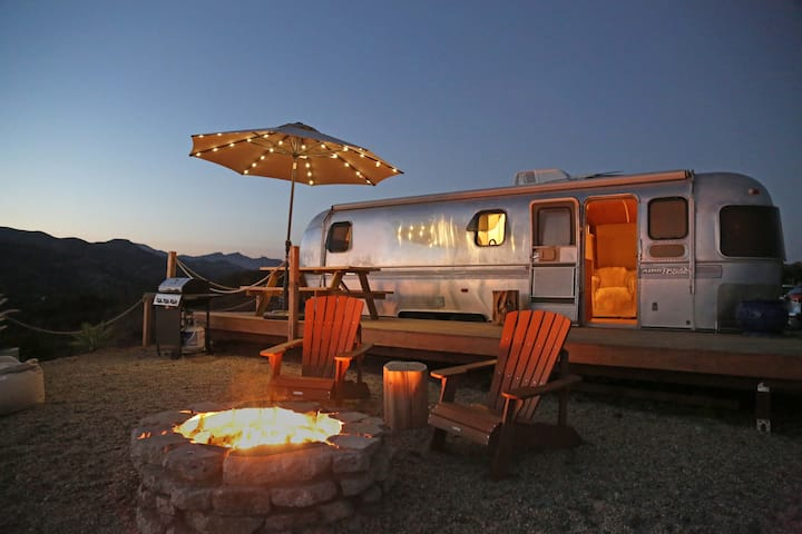 Malibu Mountain Top Airstream with Ocean View