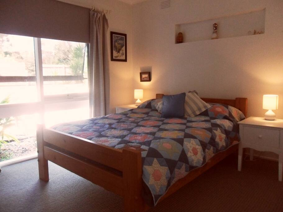 Second bedroom with double bed & wardrobe