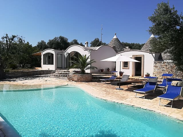 Villa With Swimming Pool Among Olives Near Sea