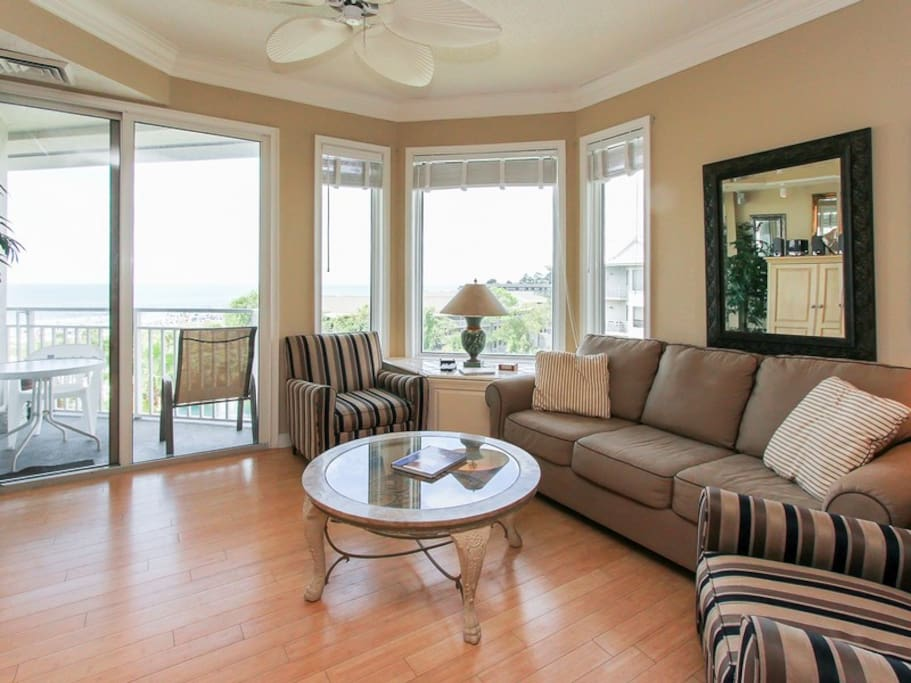 Living Room with Ocean View at 2506 Sea Crest