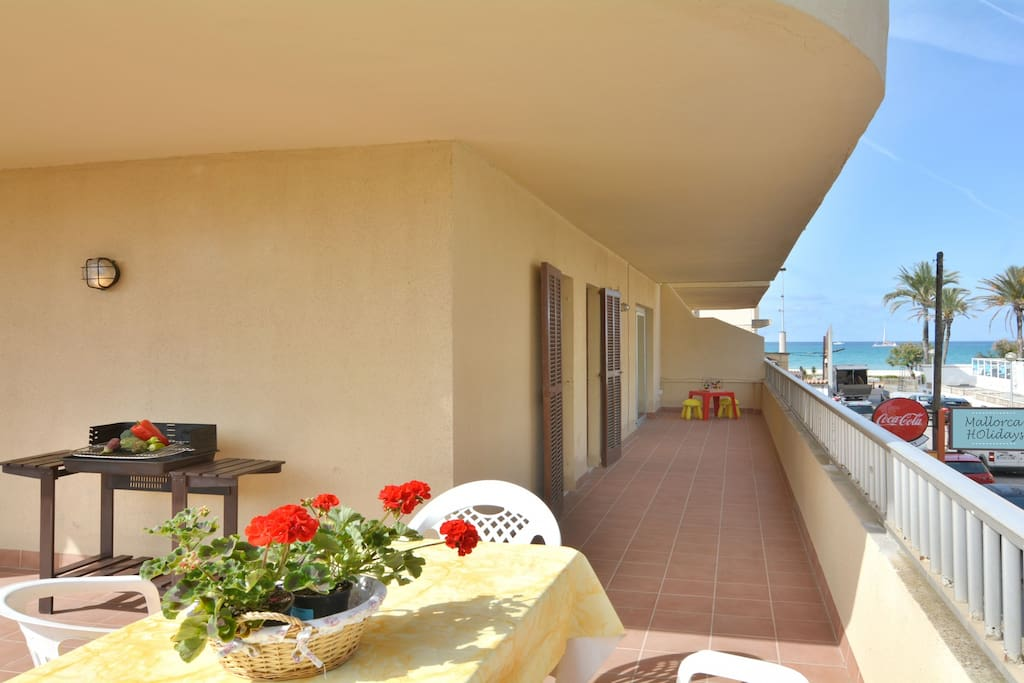 Apartment is 20 meters to the beach.