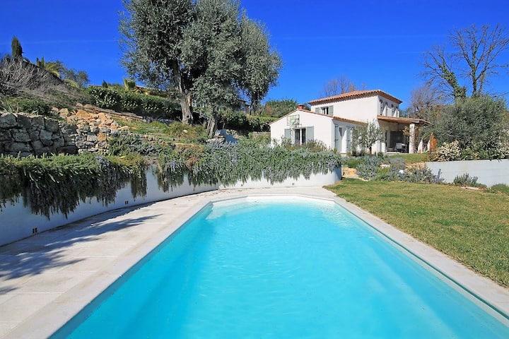 French Riviera,  entire villa-heated pool-sea view