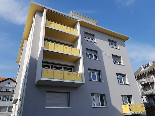 Apartment 59-1/2.5 Zi, 2 Zimmer, Küche, Bad, W+T.