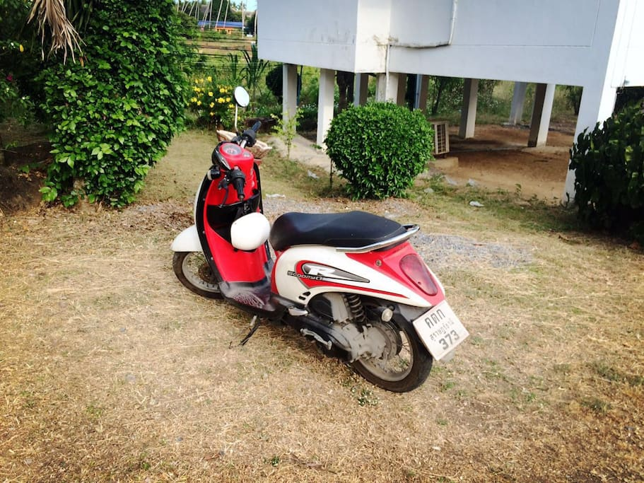 when you live in my house, you can use my motorbike anytime.