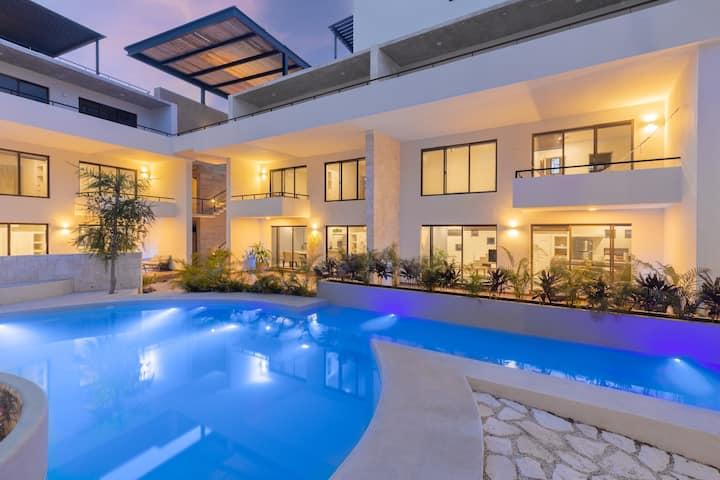 Tulum | Horus Luxury Loft | 2 BR | Terrace & Pool