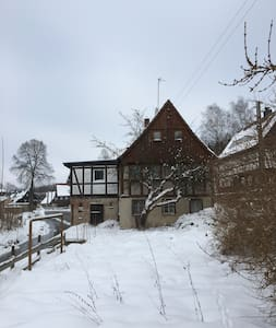 House with Bedroom above a stream - Seifhennersdorf - Casa