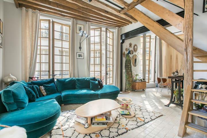 Luxury duplex in the marais