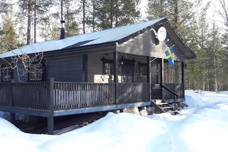 A secluded place in Svartåsvallen/Lofsdalen/Sveg - Svartåsvallen - 小木屋