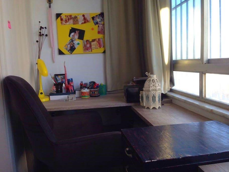 Escritório anexo ao quarto