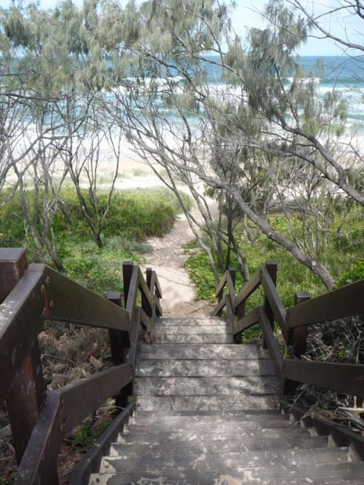 Steps right outside the house directly to the surf beach