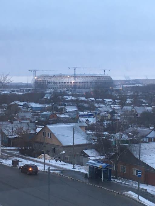 Вид с окна , стадион