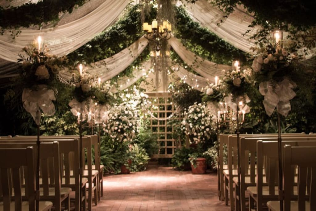 Ceremony in greenhouse